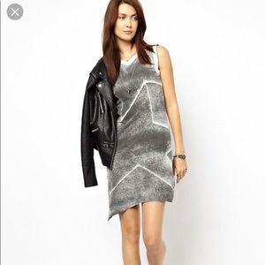 DIESEL STAR DRESS XSMALL Gray Sexy Casual